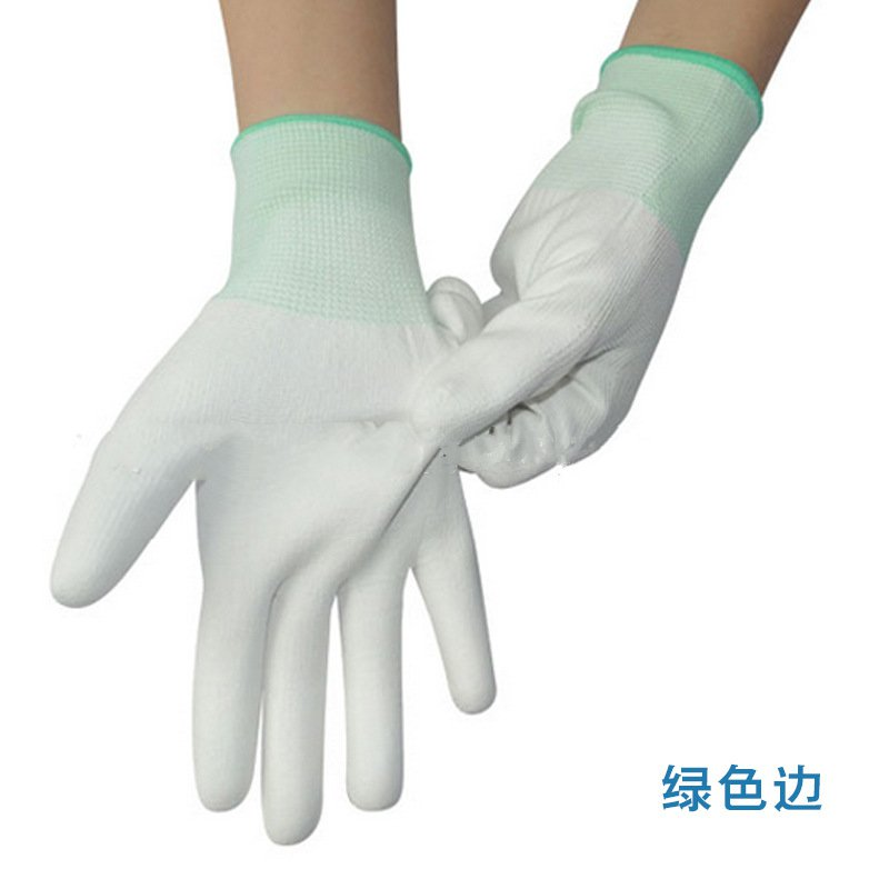 Wear painted palm point plastic slip gloves thick high-grade encryption protection palm coated nylon<br><br>Aliexpress