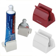 Practical Home Bathroom Set Accessories Rolling Tube  Extruder Tooth Paste Dispenser Tooth Brush Holder