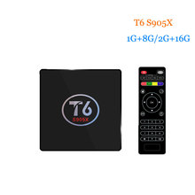 T6 Amlogic S905X Quad Core ARM Cortex A53 Android 7.1 TV Box 1G+8G/2G+16G Wifi Set top box Better than h96 pro plus Media Player