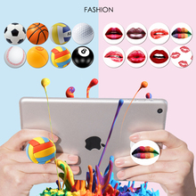 Sexy Red Lips Ball Air Sac Phone Holder Stand Expanding Grip Smartphones Pop Tablet Mobile Mount Holder Socket For Xiaomi iPhone
