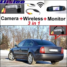 Liislee Mirror Monitor Easy Back Parking System For Skoda Superb B5 3U 2001~2008 3 in 1 Special Wireless Rear View Camera System
