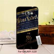 MaiYaCa Protective PC Black Mobile Phone Case For Samsung Galaxy J1 2016 case Classic Whiskey Johnnie Walker Blue Label(China)