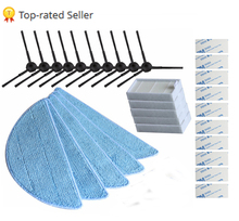 10pcs side Brush+5pcs hepa Filter+5pcs Mop Cloth+10pcs magic paste for chuwi ilife V5 V3 series ilife v5pro X5 v5s ilife v5 pro