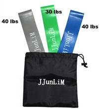 JJunLiM Resistance Loop Bands Set Fitness equipment Stretch yoga leg training Band Crossfit elastic band workout Bands pilates(China)