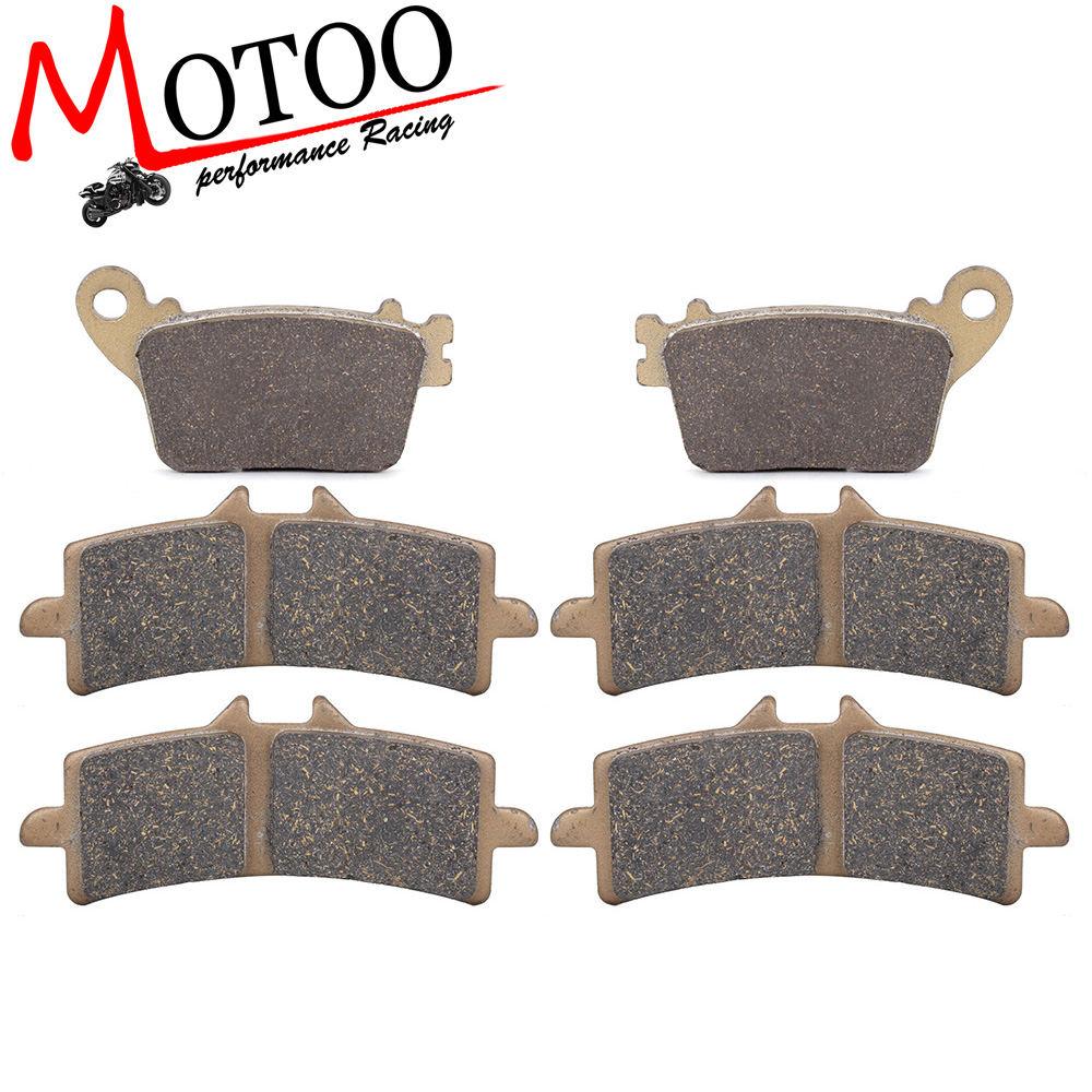Motoo - Motorcycle Front and Rear Brake Pads For SUZUKI GSXR600/750 L 2011-2015) GSXR1000 12-15 GSXS1000 15-16<br>