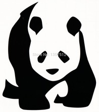 Free Shipping Giant Panda Bear Car Sticker For Truck Window Bumper Auto SUV Door Kayak Vinyl Decal 8 Colors
