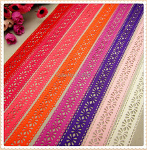 MD62718 8 color mix hot sale 28mm hollow Flowers solid Grosgrain Ribbon, Clothing accessories, DIY handmade materials