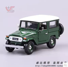 Toyota FJ40 SUV JEEP 1:24 car model Kids toy alloy original diecast metal limit collection ArmyGreen Assembled model