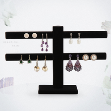 Double layer earrings Jewelry  Displays double layer velvet earrings holder 40 booths =$8.9