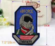 AirForce Badge 7.1*10cm Iron On Embroidery Patches Garment Appliques DIY Accessory 5pcs/lot