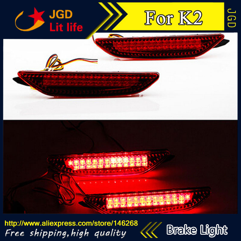 Free shipping Tail light parking warning rear bumper reflector for KIA K2 Car styling<br>