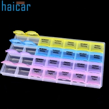 HAICAR Plastic 28 Slots Adjustable Jewelry Storage Box Case Craft Organizer Beads U6722