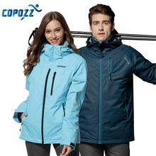 COPOZZ Snowboard Ski Suit Winter Mountain Waterproof Men Women Ski Jacket Windproof Female and Male Ski Set S-XXL Size(China)