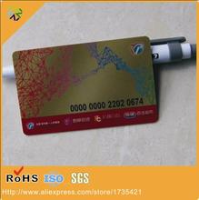 high frequency membership rfid card printing DOD numbers with magnetic strip panel member club cards printing signature panel(China)