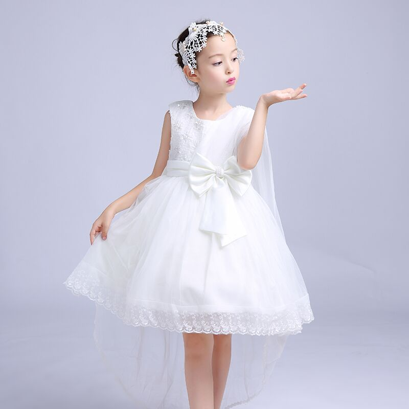Formal Party Girlss Dresses Children Fancy Flower Girl Vestidos 2017 Fashion Kids Clothes For 3 4 6 8 10 12 Years AKF164094<br>