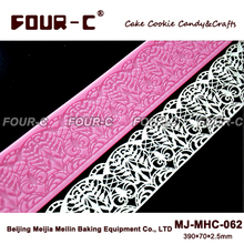 New Arrivals big cake design silicone mat cake art silicone mold instant lace mold cake design supplies(China)