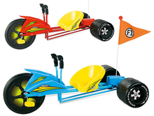 Free shipping newest 1pcs carbon frame Blue/Red kids drift tricycle with flag via DHL/EMS.