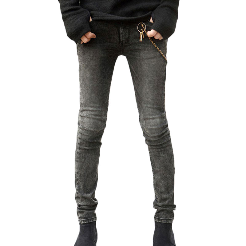 2017 New Spring Jeans Stretch Skinny Grey Pencil Pants Slim Fit Male Pants Vintage Denim Jeans Trousers Brand-clothing Men JeansОдежда и ак�е��уары<br><br><br>Aliexpress