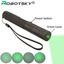 With 18650 Battery 10000 mW laser pointer pen adjustable focus lit match Leisure 303 keyed for 5000-10000 meters green laser(China)