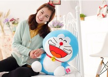 50cm laugh a hearty laugh expression Doraemon plush toy soft doll throw pillow Christmas gift w5793