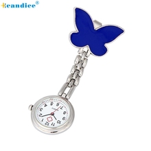 2017 New Nurse Watches Clip-on Fob Brooch Pendant Hanging Butterfly Pocket Watches New Creative