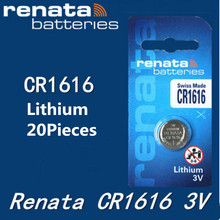 20Pcs/lot renata CR1616 CR 1616 3v Lithium Battery Remote control battery car remote battery Scales , motherboard battery