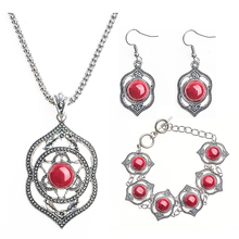 Atreus Fabulous Silver Color Charming Flower Jewelry Set Unusual Bracelet Pendant Necklace Earring African Jewelry Accessories(China)