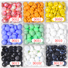 200 g ( about 40 pcs ) Big Glass drops, Red Orange Yellow Blue White Black opaque glass nuggets Glass beads, gems(China)