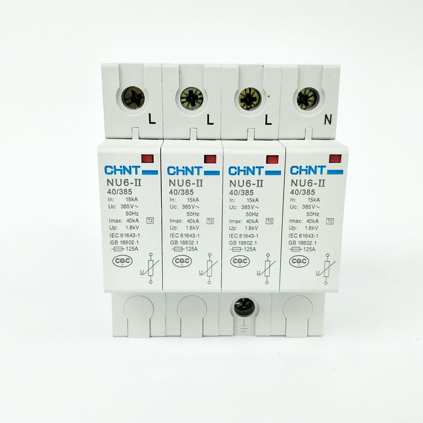 CHINT NU6-II 4P  15-40KA  275V Low-voltage Surge Arrestor<br>