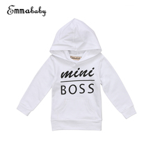 Babies Letter Hooded Pocket T-shirt Casual Toddler Newborn Baby Boy Girl Hoodie Tops Hooded Sweatshirt Outdoor 0-5Y Clothing(China)