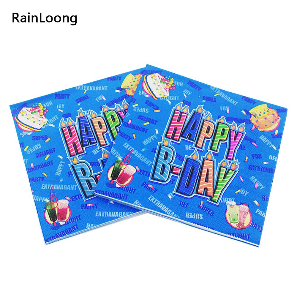 [Rainloong] темно-бирюзовый бумажных салфеток День рождения праздничные и партия ткани салфетки Декупажные украшения бумаги 33 см 33 см 5 упак./ло...(China (Mainland))
