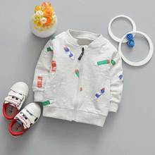 New Spring Casual Baby boyls Children's Long sleeve Cartoon Pencil printing Outwear Coats jack cardigan Y2039