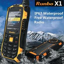 100% original Runbo x1 Force ip68  Walkie Talkie Waterproof Rugged mobile Phone 1750mAH UHF 3000meters Russian keyboard Q5 X6 H1