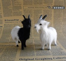 a pair of cute simulation sheep toys lifelike sheep dolls gift about 13x4x12cm(China)