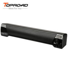 TOPROAD 10W Bluetooth Speaker 3D Soundbar HIFI Subwoof Wireless Speaker Boombox Support TF FM Radio AUX For Computer PC Phone(China)