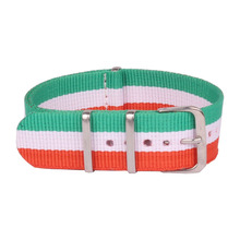 20 mm Watchbands Men Womens Multi Color Military Nato Fiber Woven Nylon Watch Straps Wristwatch Band Buckle 20mm watches belt(China)