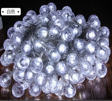 10M 100pcs 2.5cm Crystal Ball LED String Light Waterproof Outdoor 220V Globe Fairy Garland Lights For Christmas Wedding Holiday
