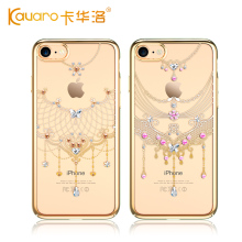 Original KAVARO Rhinestone Case from Swarovski With Clear Electroplated PC Crystals Case For Fundas Apple iphone 7 / 7 plus