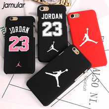 JAMULAR Slim NBA Matte Case For iPhone 7 6 6S Plus Hard Plastic Back Cover Jordan Case For iphone 8 7 Plus 6 6s Plus 5s SE Cover(China)