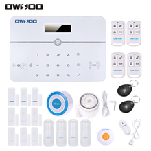 OWSOO Wireless Alarm Security System PSTN LCD Display APP Remote Control Auto-dial Water Door Sensor Home Burglar Alarm Security(China)