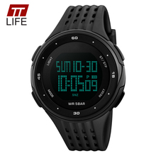 Fashion TTLIFE Brand Auto Date Male Watches PU Band Waterproof Clock Multifunction Outdoor Sports Men's Digital Wristwatches