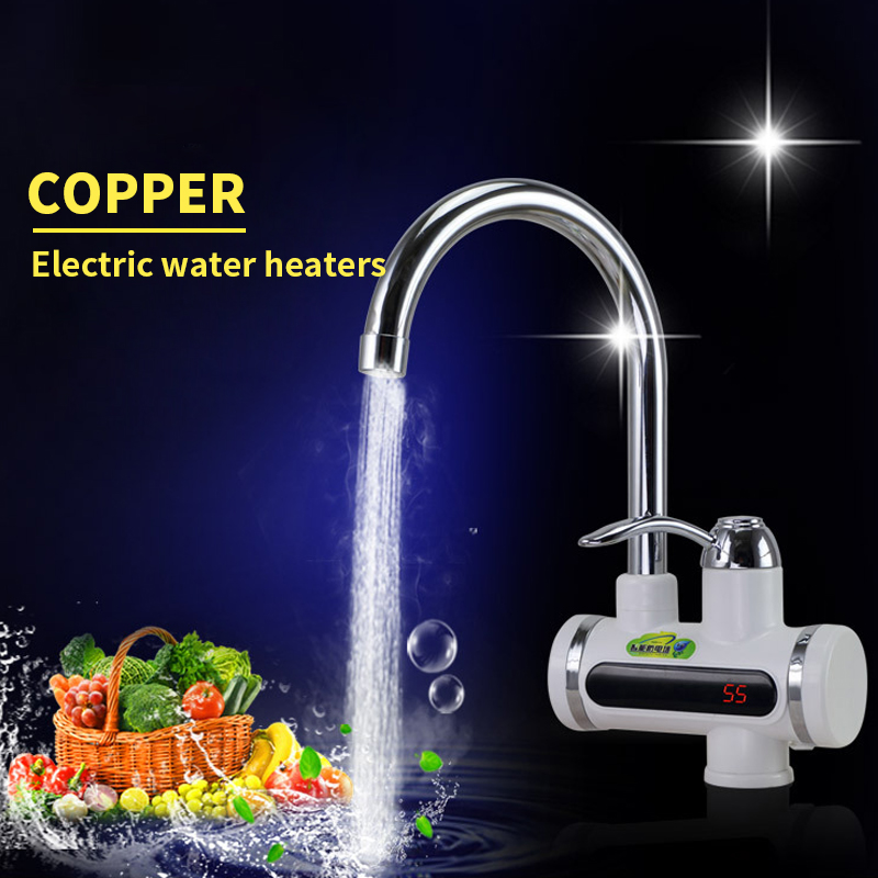 instant tankless electric hot water heater faucet Kitchen Electric Water Heater Tap Hot Water Faucet Heater Cold Heating Faucet<br><br>Aliexpress