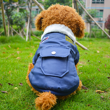 Brand 100% Cotton USA Air Force Two Legs Pet Uniform Dog Clothes Coat