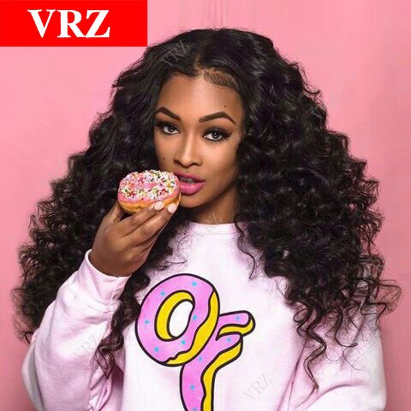 130% Density Curly Lace Front Human Hair Wigs Brazilian Virgin Hair Full Lace Human Hair Wigs 8-24 Front Lace Wigs for African<br><br>Aliexpress