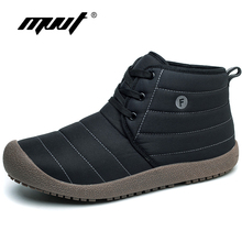 MVVT Plus Size Men 겨울 boots Unisex Quality 눈 Boots 대 한 Men 방수 겨울 Shoes Men's Ankle Boots 와 모피 Men Shoes(China)