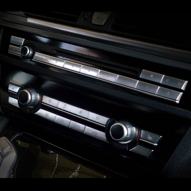 Aluminum Multi-media Switch Button Trim for BMW 5 series f10 5GT 2011-2015