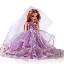 1pc Movable Joint Body Princess Babe Doll 30cm Wedding Design Dress Suite Kids Toy Brinquedo Girl Gift TY0129
