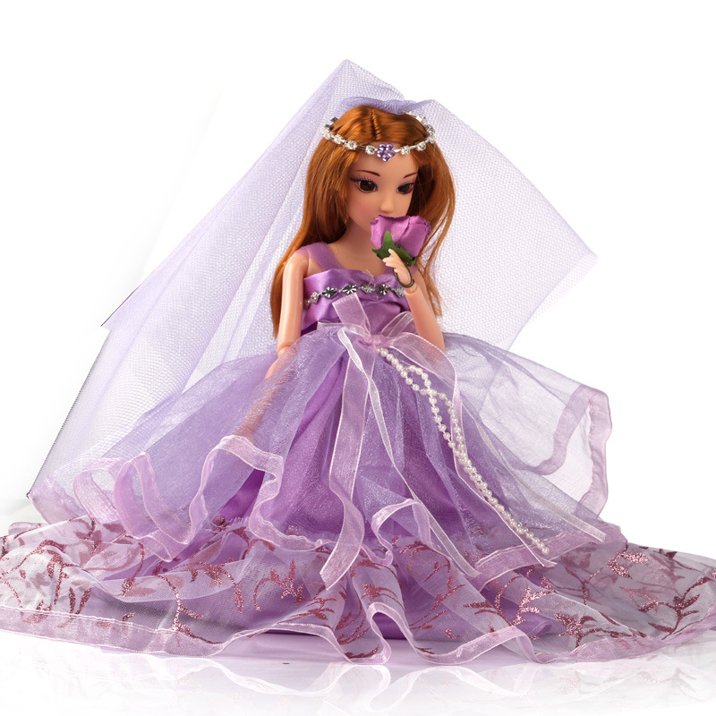 1pc Movable Joint Body Princess Babe Doll 30cm Wedding Design Dress Suite Kids Toy Brinquedo Girl Gift TY0129<br><br>Aliexpress
