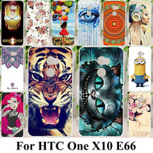 Phone Cases For HTC One X10 E66 Plastic Housing Cover Skin Cat Tiger Bag Shell For HTC One X10 Shock-Proof Coque Case Cover