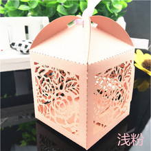 50Pc Free Shipping Laser Cut Romantic Flower Girl Birthday Wedding Invitations Gift Box Sweet Candy Baby Shower Chocolate Box
